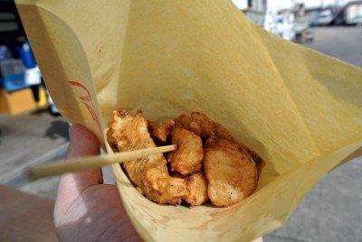 袋の中には、すずきの唐揚げ