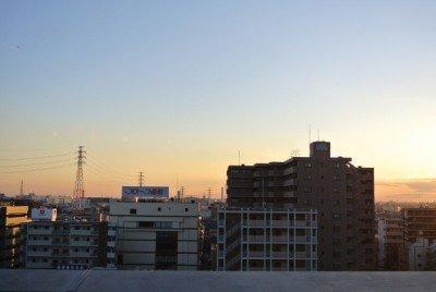 西船橋の夕日