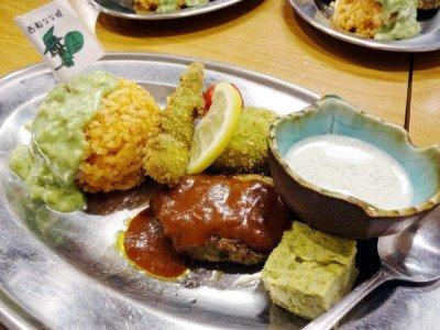ホルモン酒場 フナバシ屋さんの「小松菜づくし、大人のお子様ランチ2014」