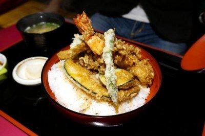 大海老といろいろ野菜のヘルシー天丼