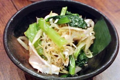 串焼屋 太郎の「ささみと小松菜刻みわさび」