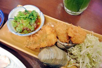 魚屋 浜寅の「地元船橋魚介フライ小松菜おろしぽん酢」